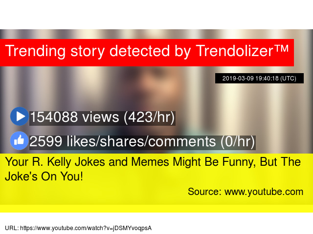 Your R  Kelly Jokes and Memes Might Be Funny, But The Joke's On You!