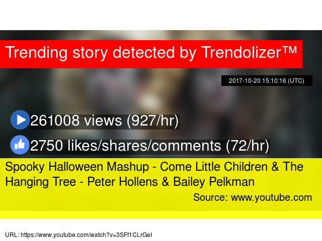 spooky halloween mashup come little children the hanging tree peter hollens bailey pelkman