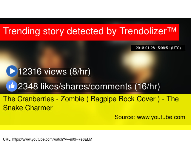 The Cranberries - Zombie ( Bagpipe Rock Cover ) - The Snake