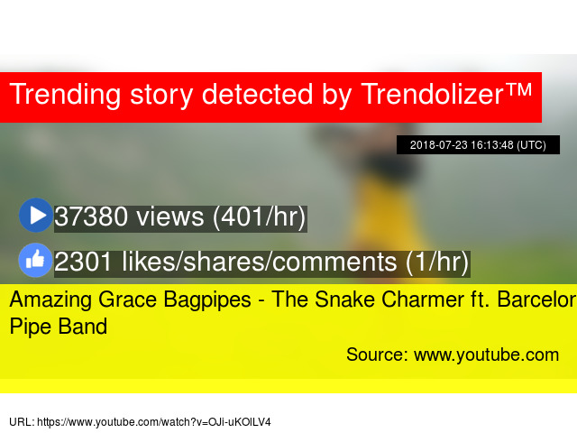 Amazing Grace Bagpipes - The Snake Charmer ft  Barcelona