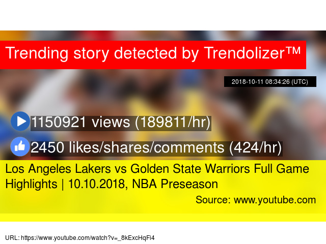 38142d90213c Los Angeles Lakers vs Golden State Warriors Full Game Highlights ...